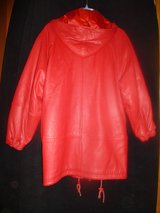 Pretty Perfect Red Leather Jacket in Naperville, Illinois