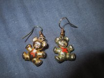 Bear pierced earrings in Joliet, Illinois
