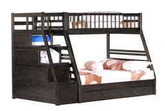 NEW STAIRCASE BUNK BED TWIN/FULL ALSO IN WHITE in Riverside, California