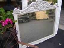 carved vintage mirror grey washed in Naperville, Illinois