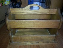 Great Condition Solid Wood Magazine Rack in Glendale Heights, Illinois