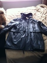 black leather jacket/lined in Yorkville, Illinois