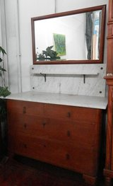 Dresser with Mirror and Marble Top in Ramstein, Germany