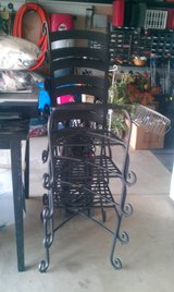 (4) Matte Black Solid Wrought Iron Indoor Outdoor Chairs in Chicago, Illinois