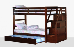 NEW WALK UP STAIRWAY BUNK BED WITH TRUNDLE in Riverside, California